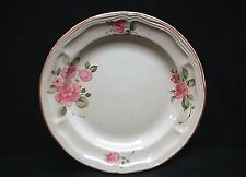 """Old Vintage Roseland by Gibson Housewares China 7"""" Salad Plate Pink Roses Trim"""
