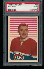 1963 Parkhurst BILL HICKE #25 PSA 9 - Tough Low Pop