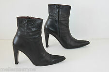 Bottines Boots DEMIREL Leather Noir Hauts Talons T 6 US / T 37.5 FR BE
