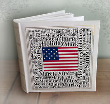 "Personalised large photo album, 200 x 6x4"" photos, America USA holidays book"
