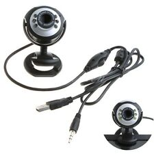 USB 10x zoom Webcam Camera  With 6 LED lights Built in Mic for Laptop Desktop PC
