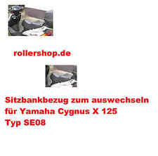 Sitzbank-Bezug für Yamaha Cygnus X 125, Typ SE08, Handgenäht in Deutschland