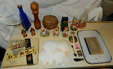 Antique Vintage Modern Thrift Store Flea Market Lot Ceramic Enamel Brass etc