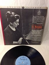 MARIA CALLAS la gioconda highlights PONCHIELLI Antonio Votta ANGEL OPERA  LP NM