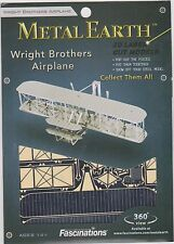 Fascinations Metal Earth Wright Brothers Airplane  3D Model NEW FREE SHIPPING