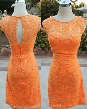 NWT WINDSOR Tangerine Homecoming Prom Party Dress 7
