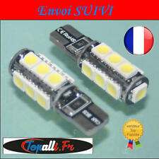 2 x LED 5050 T10 W5W 13 SMD Canbus Anti Error ODB Blanco / Vendedor Francesa
