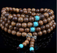 108 Sandalwood Buddhist Buddha Meditation Prayer Bead Mala Bracelet Necklace New