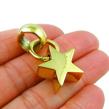 Celestial Star Polished Brass Pendant in a Gift Pouch