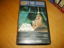 VHS *STAR WARS* 1982 RARE Australian 20th Century Fox Video Library 1st Edition!