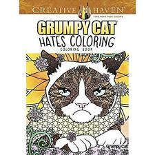 FREE 2 DAY SHIPPING: Creative Haven Grumpy Cat Hates Coloring: Coloring Book