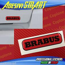 1 Adesivo Resinato Sticker 3D BRABUS Smart Rosso & Nero sportello posteriore