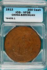 1913 ICG VF35 China-Szechuan 200 Cash Y#459.1!! #B4856