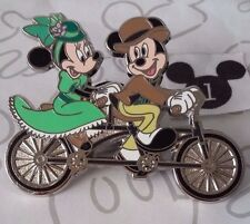 Mickey and Minnie Mouse Bicycle Built for Two Tandem Bike Dapper Disney Pin