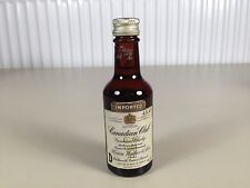 Mignonnette mini bottle non ouverte whisky canadian club