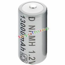 1x D Size D-Type D Type 13000mAh 1.2V Ni-MH Rechargeable Battery Cell Grey