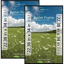Poster Frames Large Family Photo Picture Pocket Plastic Cover 22x34 Set 2 Black