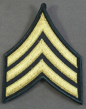 US Army Large Sleeve Rank Insignia Sergeant E-5 / Merrowed Edge / New Pair
