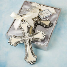20 Cross Ornament Christening Baptismal Wedding Favors Communion