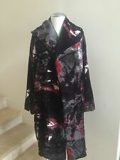 JOSIE NATORI Velvet Coat Jacket Size Medium