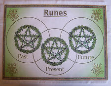 Ivy Rune Casting Mat for use with Runes, Wiccan, gift divination, Druid.