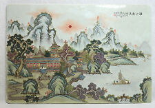 Large  Chinese  Famille Rose  Porcelain  Plaque     1