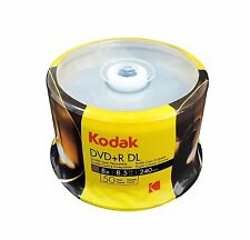 50-Pack Kodak 8X Logo Top DVD+R DL Dual Layer Disc 8.5GB