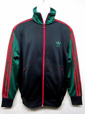 ADIDAS Originals -Men's Track Top Jacket-RED GREEN WEB DESIGN with Black-Size XL
