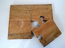 30cm Novelty Wooden Jigsaw Chopping Block Cheese Board Serving Dish Bread Gift