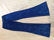 FLARES- HIPPY- 60s- HENDRIX- UNISEX- 70s- CRUSHED VELVET- ROYAL BLUE- TREX-BOLAM