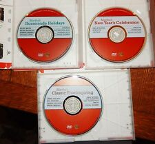 NEW Lot Of 3 Martha Stewart DVD - Homemade Holiday's - Thanksgiving  - New Years