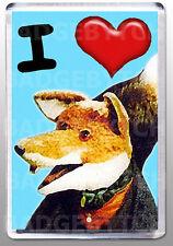 I LOVE (HEART) BASIL BRUSH LARGE FRIDGE MAGNET- RETRO CLASSIC!