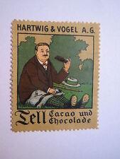 Tell Cacao und Chocolade - Hartwig & Vogel AG - Schokolade / Reklamemarke