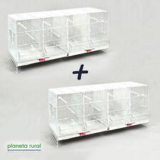 2 Jaulas de Cría para Pájaros Metro Pedros Blanca