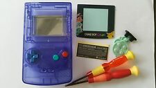 HOUSING POUR GAMEBOY COLOR POKEMON2 CLEAR BLUE +COLOR BUTTON NEW