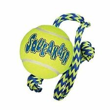 KONG SqueakAir Ball with Rope Dog Toy, Medium