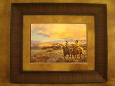 "TIM COX FRAMED ""RACING SUNDOWN"" OPEN EDITON PRINT"