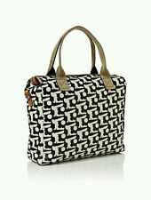 Orla Kiely Women Bunny Print Zip Messenger Bag Black UK stock