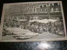 Old postcard Polly Nathan's Fish shop Petticoat lane London c1900s