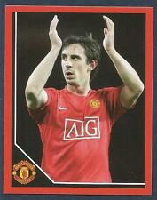 PANINI MANCHESTER UNITED 2008/09 #023-GARY NEVILLE APPLAUDS THE FANS