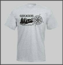 SANCTUARIES EDGE GEO CACHE T SHIRT FUNNY HUMOUR MENS LADS GEOCACHING CACHING