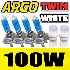 4X H7 (499) 12V 100W RALLY SPORT HALOGEN HEADLIGHT BULBS WHITE VISION TINT HINT