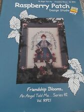 RASPBERRY PATCH DESIGN CROSS STITCH PATTERN FRIENDSHIP BLOOMS ANGEL FLOWERS