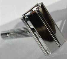 New Twist To Open Butterfly Safety Razor & 1 Wilkinson Sword Blades Classic Type