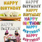 """16"""" 13Pcs """"HAPPY BIRTHDAY"""" Letters Foil Balloons For Birthday Party Decoration"""