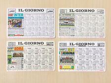 """Calcio-4 (quattro) Calendari Formato Tascabile de """"Il Giorno"""" -Serie A-1980-1986"""