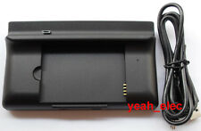 3 IN 1 USB Desktop Dock Charger Cradle Sync Battery Charger For HTC Desire Z!