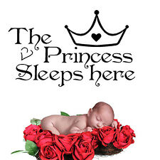 CHIC Princess Removable Wall Sticker Girls Bedroom Decor Baby Room Decal Art