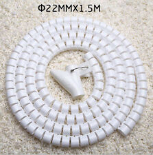 22mm*1.5M Spiral Cable Cord Power Wire Management Organizer Wrap with Clip