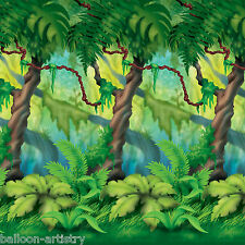 Jungle Wild Fun Animals Party Scene Setter Room Roll Backdrop Decoration TREES